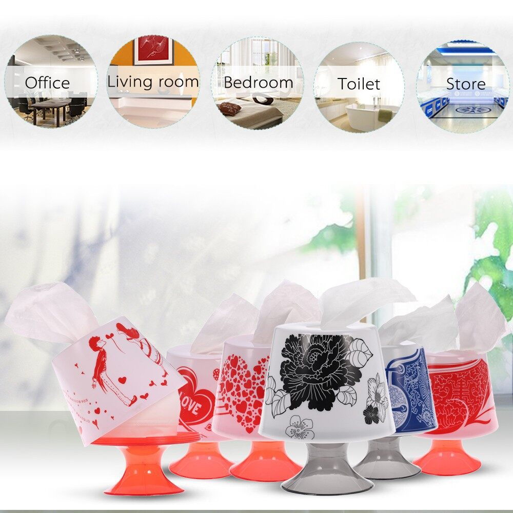 Home Storage & Organization - Lamp Style Roll Tissue Holder Box Bathroom Paper Cover - BLACK / BLUE / RED-1 / RED-2 / RED-3 / RED-4
