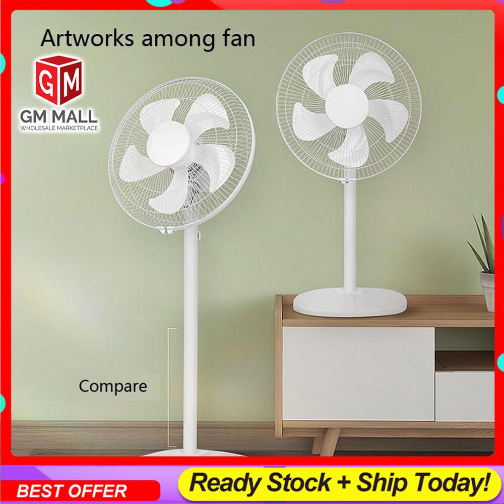 """[NEW ] Exclusive White Stand Fan 16"""" - Ready Stock Floor Fan 2in1 [FS-40]"""