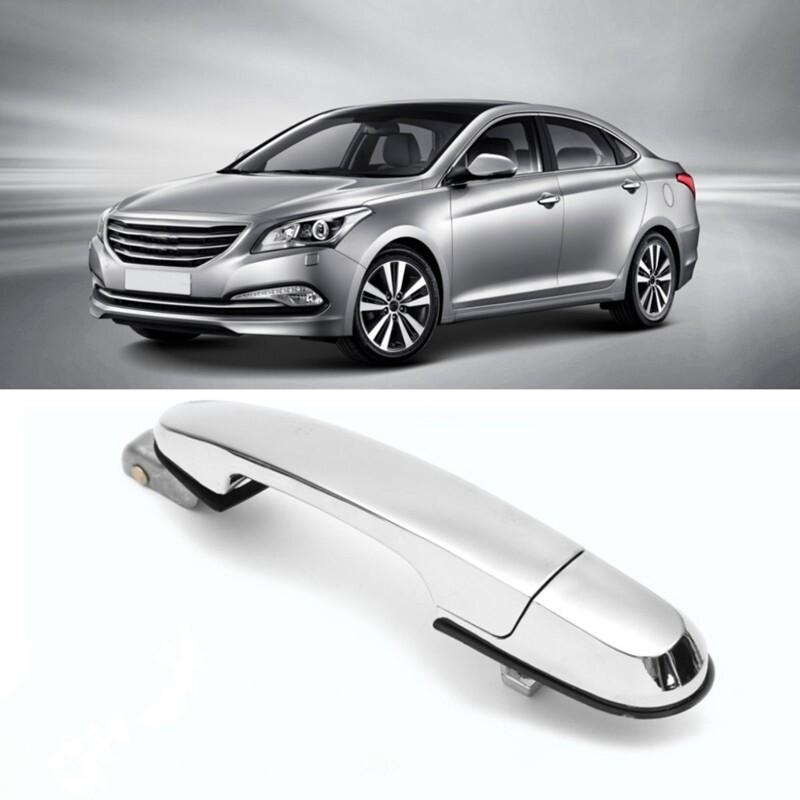 Automotive Tools & Equipment - Exterior Chrome Door Handle For Hyundai Tucson 2005-2009 Rear RH #836602E010 - Car Replacement Parts