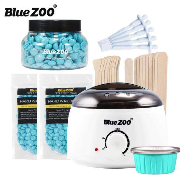 Buy Blue ZOO 7-in-1 Hair Removal Depilatory Set Wax Bean Warmer Heater Machine with Hard Wax Beans & Hair Removal Stick & Melting Wax Bowls Singapore