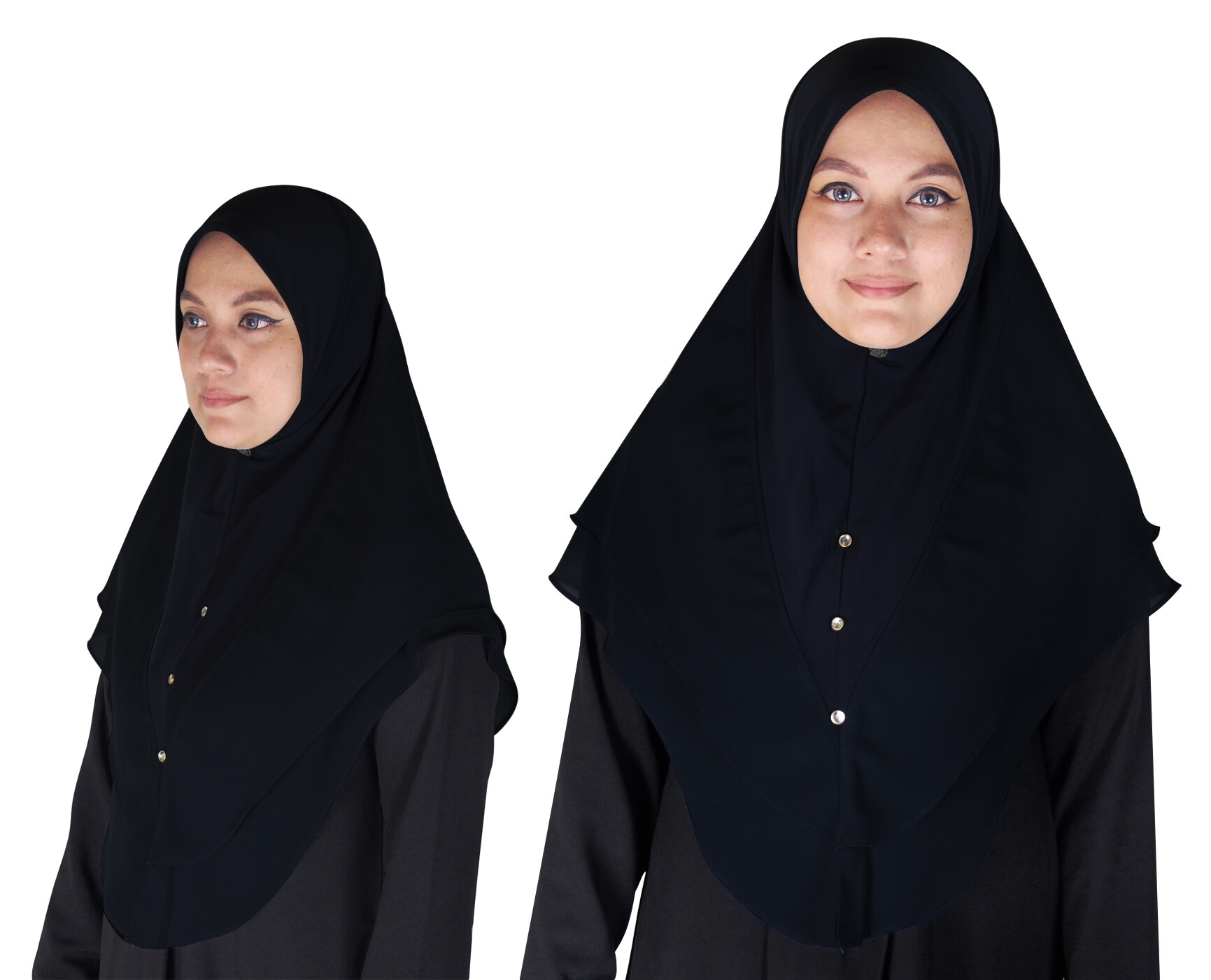 Dua Lapis Stylish Beautiful Tudung Chiffon - Umran
