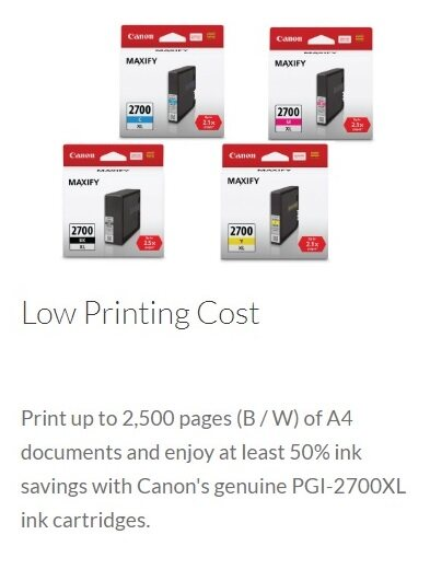 CANON MAXIFY iB4170 BUSINESS INKJET PRINTER with Auto- Duplex Print for Highlighter and Water Resistant Documents (FINDC)