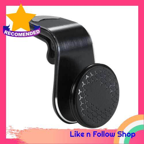 Magnetic Phone Car Mount Air Vent Phone Car Mount Universal Car Cellphone Holder Black (Black)
