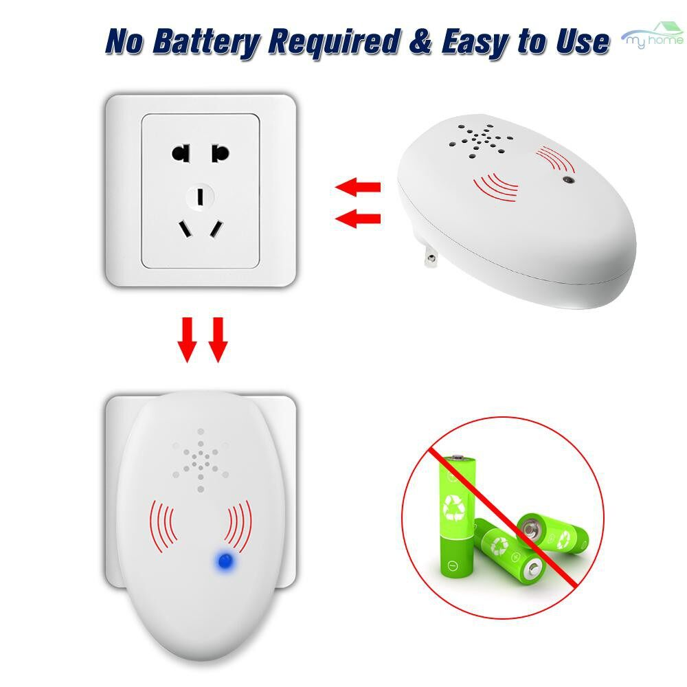 DIY Tools - ULTRAsonic Pest Repeller Electronic Mouse Bug Repellent Mosquito Pest Rejector Killer Pest Control - Home Improvement