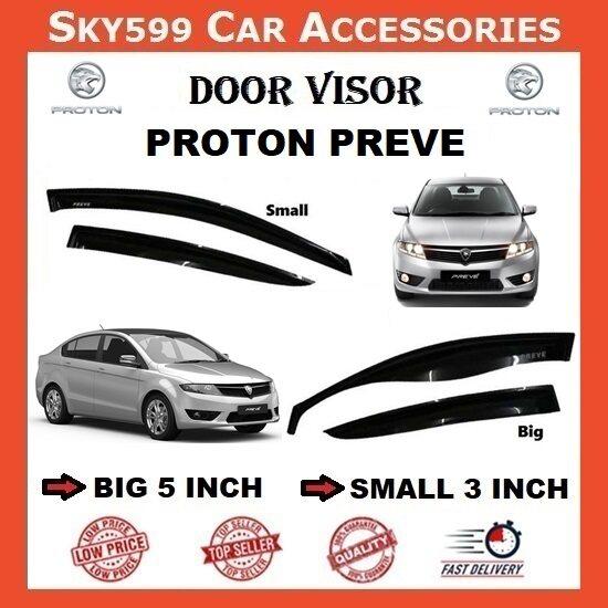 Proton Preve 3inch Door Visor /air press?1set 4 Door?