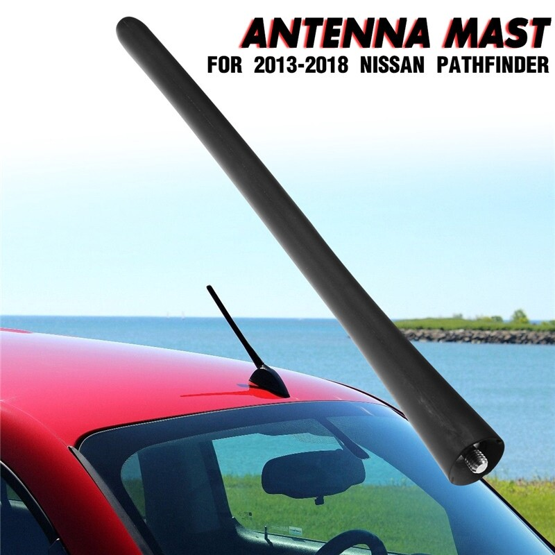 Engine Parts - 8 Inch Black Direct Antenna Mast For 2013- Nissan Pathfinder - Car Replacement