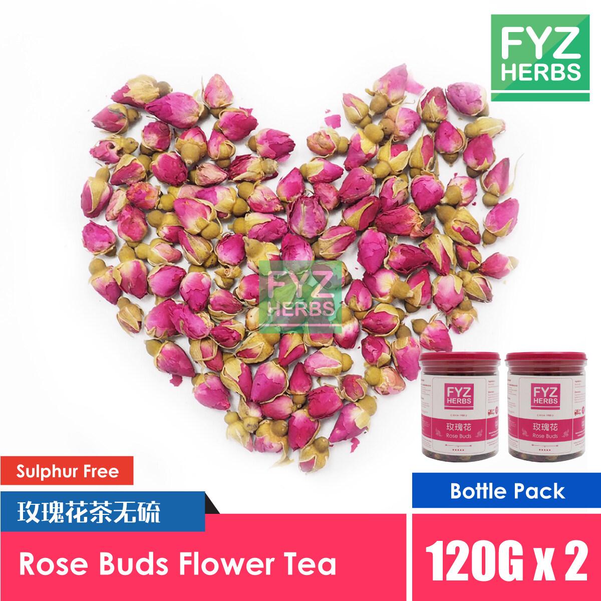 FYZ Herbs Rose Buds Flower Tea (120g x 2) [Bottle Pack] 玫瑰花茶罐装