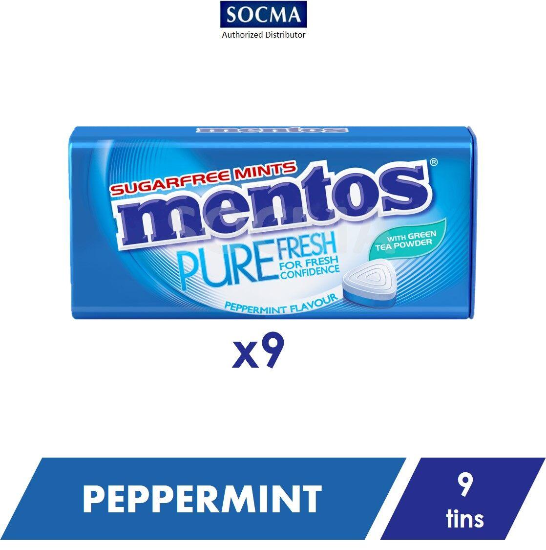 Mentos Pure Fresh Tin Peppermint 35G [9]