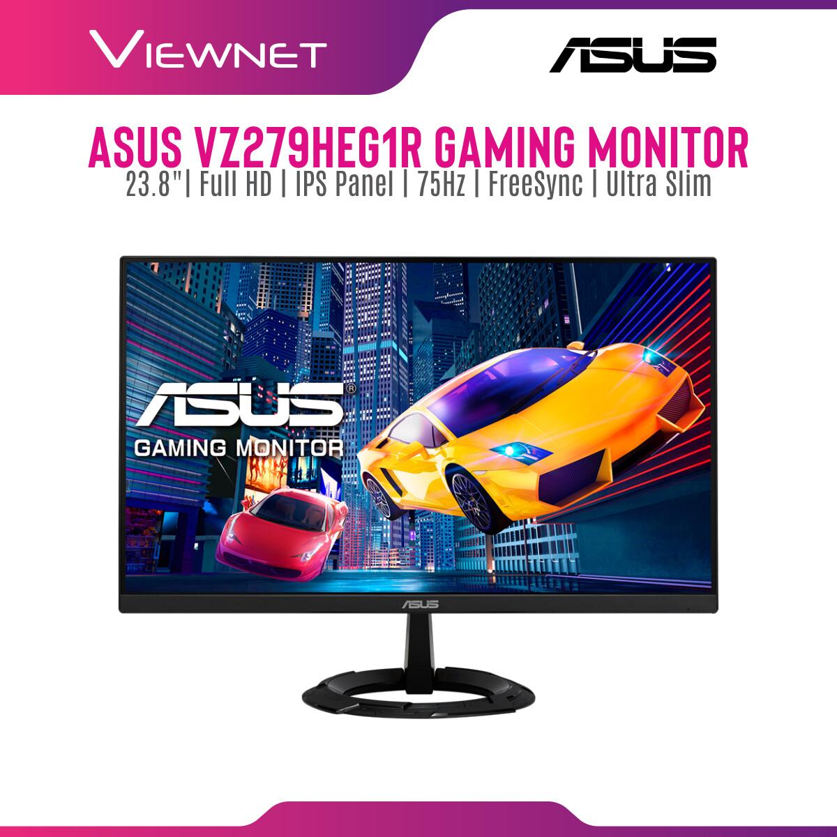 ASUS VZ249HEG1R / VZ279HEG1R Gaming Monitor, Full HD, IPS, 75Hz, 1ms MPRT, Extreme Low Motion Blur, FreeSync, Ultra-slim