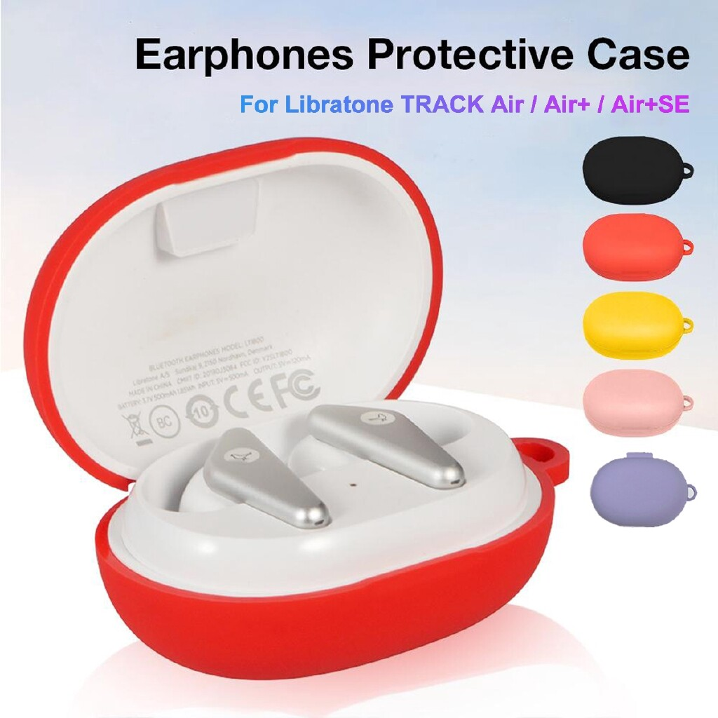 Cases & Covers - Silicone Protective Case Cover w/ Hook for Libratone TRACK Air/ Air + Head SETs - RED / PINK / PURPLE / YELLOW / BLACK