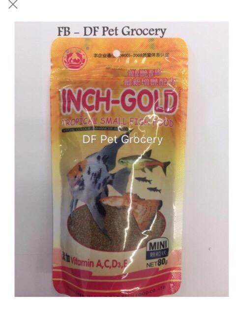 Inch Gold Tropical Small Fish Food 80g
