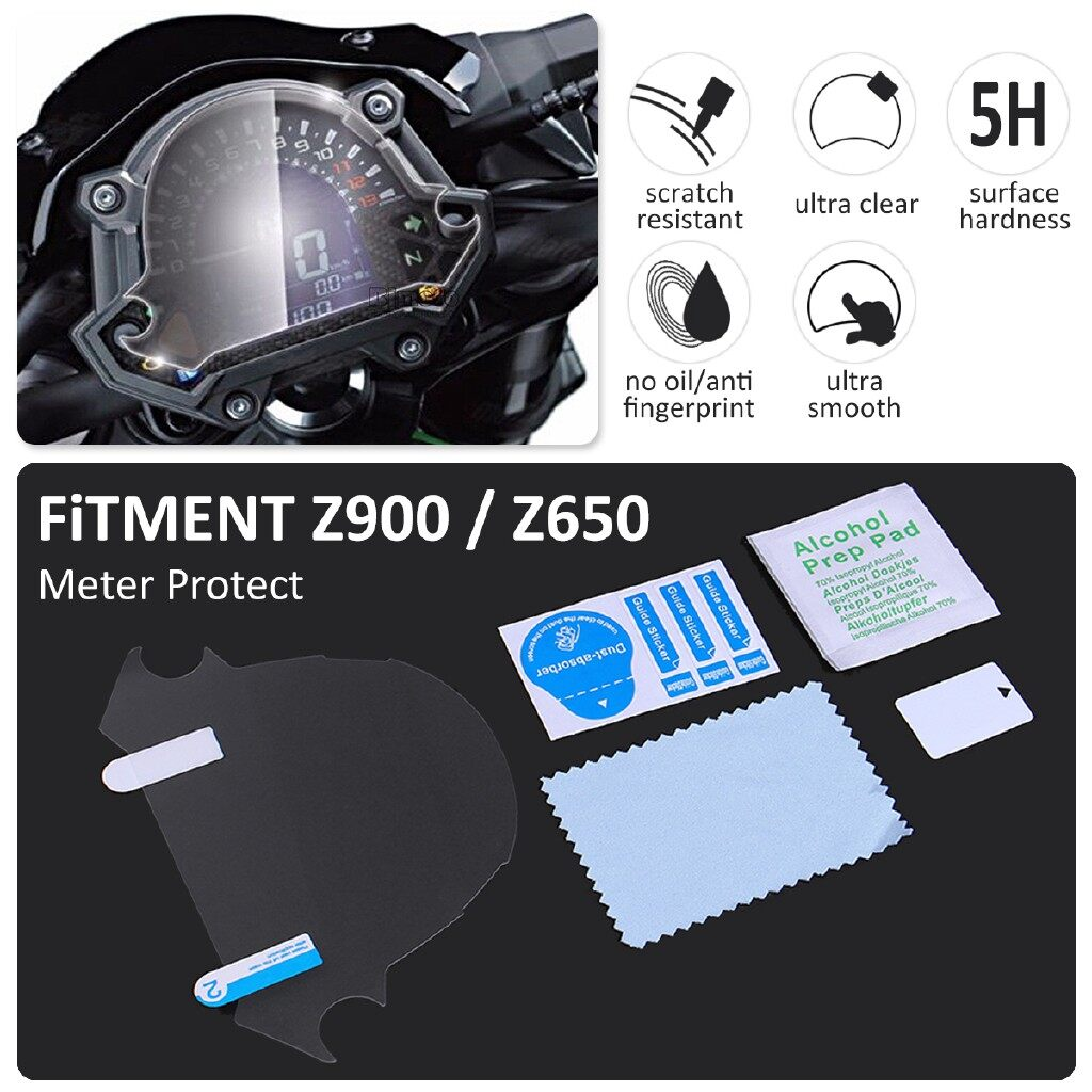 Moto Accessories - 1 PIECE(s) Motorcycle screen protector For Kawasaki Z900 Z650 Motorcycle Dashboard Film Tachometer - Motorcycles, Parts