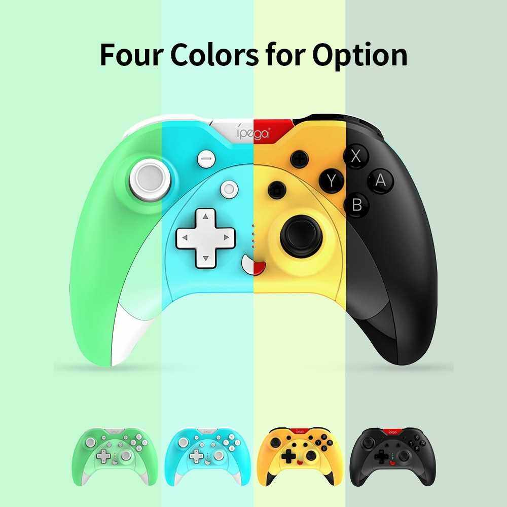 Best Selling IPEGA PG-SW023 Bluetooth Game Controller Wireless Vibrating Six Axis Gamepad Replacement for N-S Console/P3/Android/PC(Win7/8/10) Black (Black)