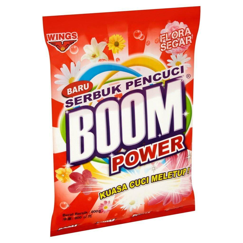 WINGS BOOM POWER DETERGENT POWDER - FLORA SEGAR (800G) READY STOCK
