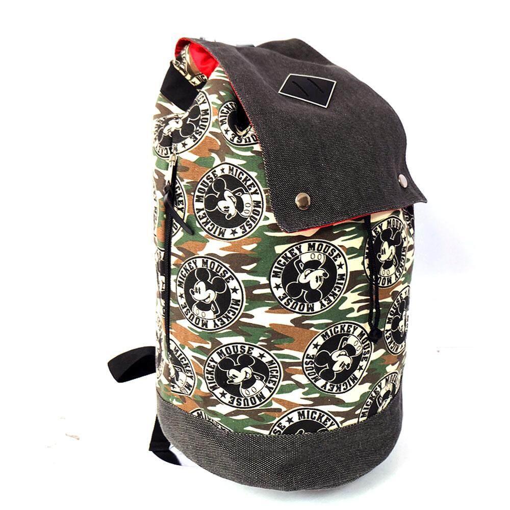 Disney Mickey DRB1614 - 18 Inch Drawstring Backpack (Black/Green)
