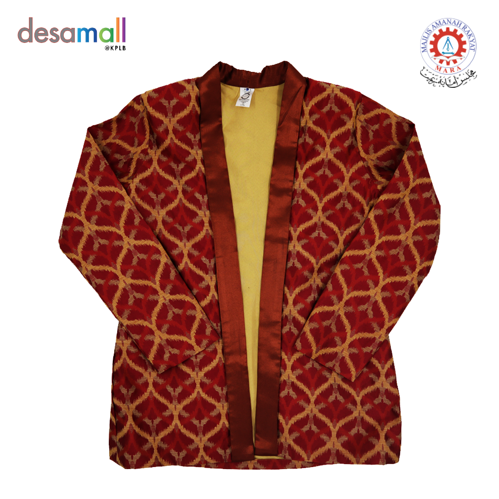 ONE RAIZAH Songket Jacket ala Kebaya Color Red (Size M)