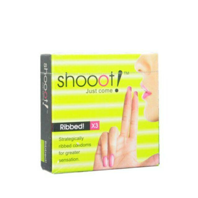 SHOOOT Condom 3's - Ribbed