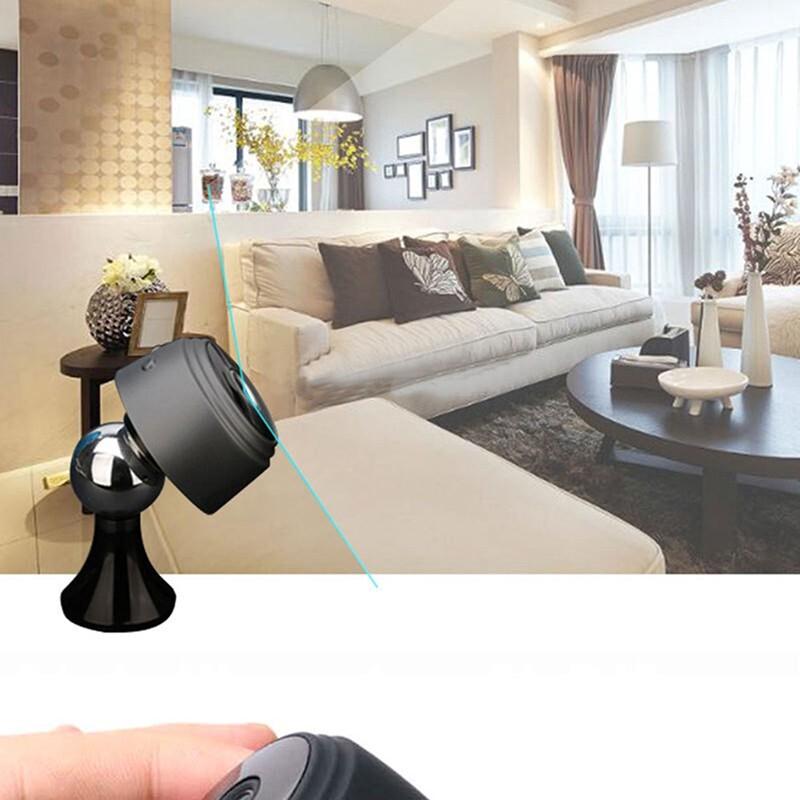 MINI WiFi Camera 1080P HD WIRELESS IP Camera Small Micro Cam Motion Detection Night Vision Home - BLACK