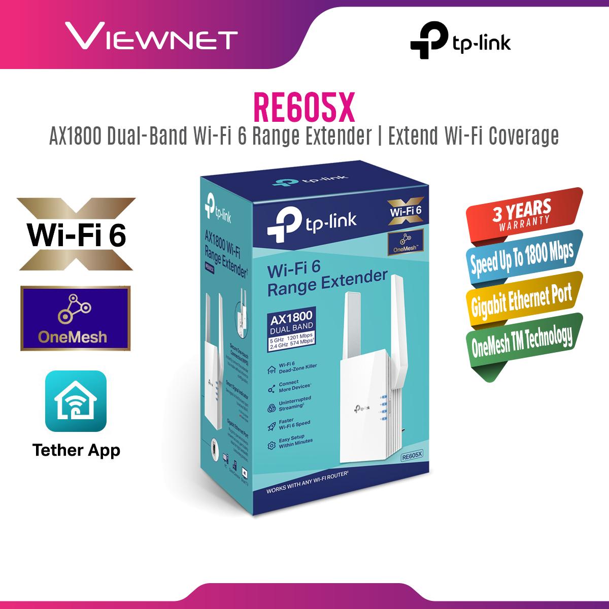 TP-Link RE605X - AX1800 Wi-Fi 6 Range Extender