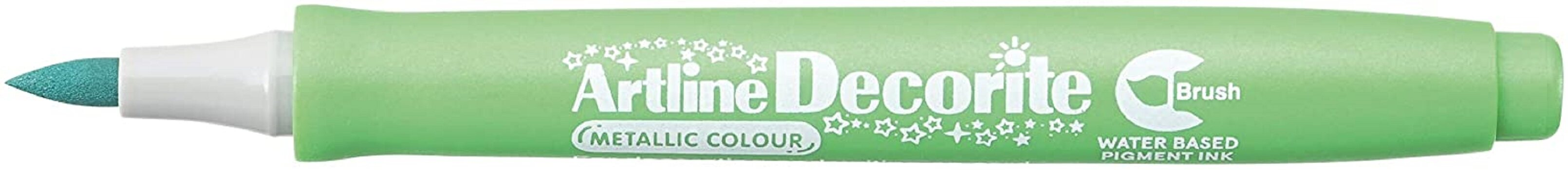 Artline Decorite Brush (EDF-F)  (EDFM-F) Metallic Green