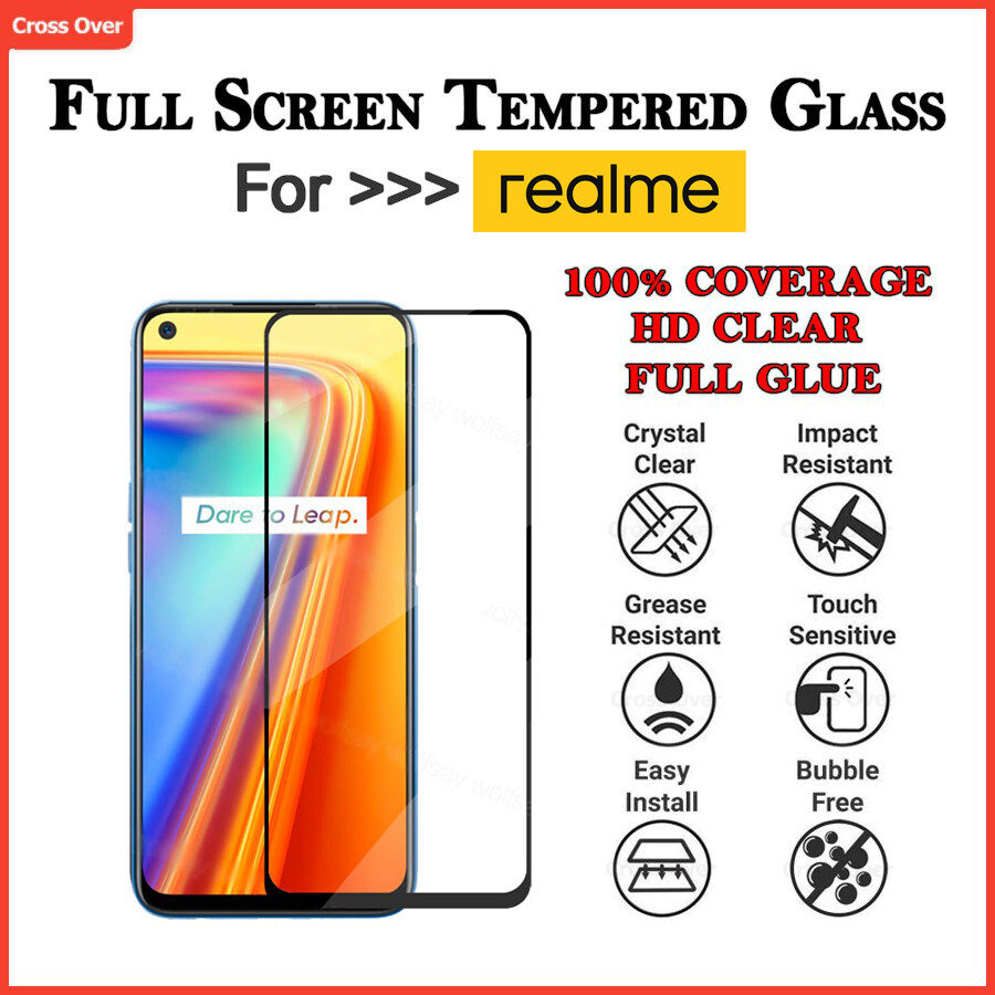 REALME 2 3 3PRO 5 5i 5S 5PRO 6 6i 6PRO 7 7i 7PRO C1 C2 C3 C11 C12 C15 X3 X50 PRO XT  Full Screen Protector Tempered Glass HD Clear
