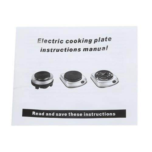 MULTIFUNCTION MINI STOVE COOKING PLATE COFFEE HEATER HOME APPLIANCE (BLACK)