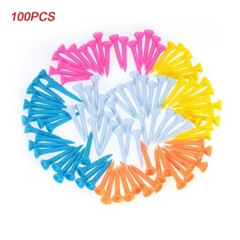 100pcs Plastic Golf Tees Golf Ball Tee Golfer Aid Tool Mixed Color