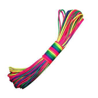 101Ft Rainbow Color Paracord Rope Parachute Cord Outdoors