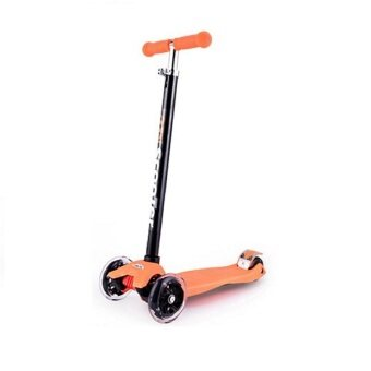 Harga 21st Scooter Height Adjustable Flash Wheels Scooter Orange