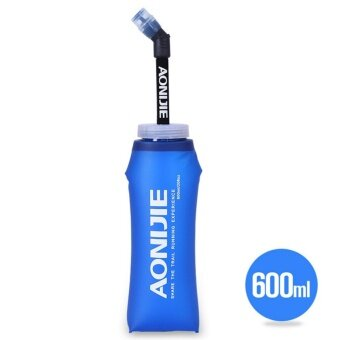 2PCS AONIJIE 600ml Foldable Soft Flask TPU Outdoor Sports Running Water Bottle