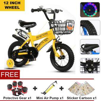 BEIQITONG (NP128) 12 Inch Wheels Sturdy steel frame BMX Freestyle Kids Sport Bikes With Training Wheels for Boys Or Girls