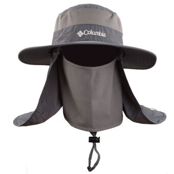 Harga DISCOUNT!!! EGC Outdoor 360 sunscreen fisherman hatMulti-functional quick-drying cap Sun hat fishing cap on thespot(Grey)