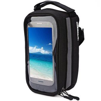 Harga DUUTI Bicycle Frame Tube Panniers Waterproof Touchscreen Phone CaseReflective Bag(Black) - Intl