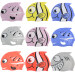 Harga Genuine fish children's swimming cap Boys Girls waterproof earswimming cap cartoon animal fish-shaped silicone cap