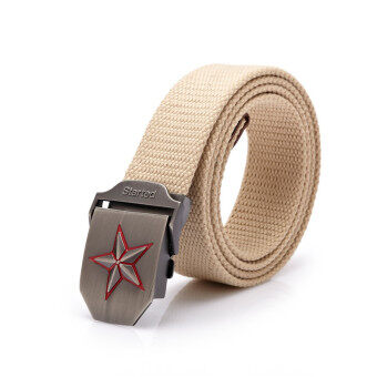 Harga Army Canvas Belt Fashion Belt Military Tactical Belts Thicken for Men