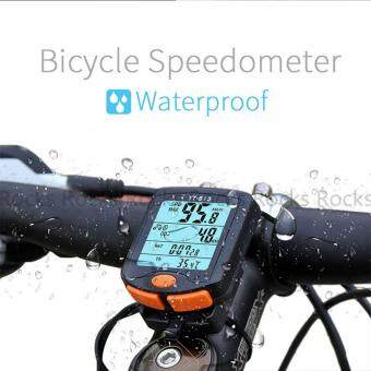 Harga Cycling Bike Bicycle Wireless LCD Cycle Computer Odometer Speedometer Waterproof