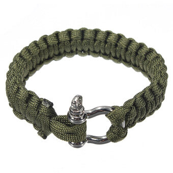 Harga Paracord Survival Bracelet (Green)