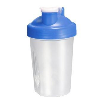 Harga BPAfree Shake Protein Blender Shaker Mixer Cup Drink Whisk Bottle Blue 400ml