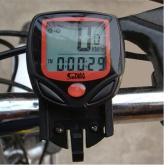 Harga EcoSport Waterproof Bicycle Cycle Wireless LCD Digital Computer Speedometer Odometer