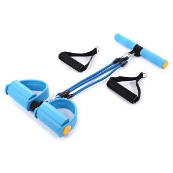 Harga Pedal Exerciser Pull Rope Fitness Resistance Bands Women Men Sit Up Pull Ropes yoga fitness equipment