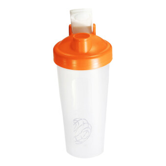 Harga BPAfree Shake Protein Blender Shaker Mixer Cup Drink Whisk Bottle Dark Orange 600ml