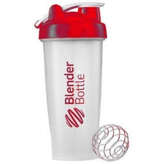 Harga Blender Bottle 600ML Nutrition & Protein Shaker Mixer Bottle with Steel Ball (Red)