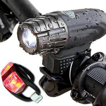 Harga USB Rechargeable LED Bike Bicycle Cycling Front Light Safety Waterproof