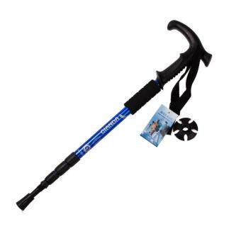 Harga Hiking Waking Trekking Trai Poe Utraight 4-ection Adjutabe Cane