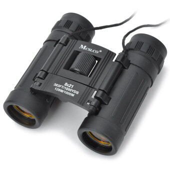Harga Handy 8x21 Black Binoculars Rubber Fold-down Eyecups (383FT/1000YDS)
