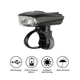 Harga Outdoor Cycling Bicycle Light Smart Sensor Warning Light Shock Sensor LED Front Lamp USB Rechargeable MTB Mountain Road Bike Night Riding Light Lamp