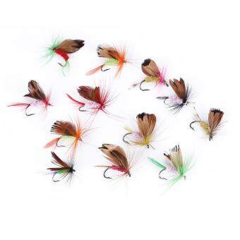 Harga 12pcs Outdoor Fishing Lures Accessories Butterfly-style Lifelike Fishing Lures Hook Baits