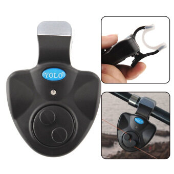 Harga Electronic Fish Bite Alarm Finder Alert Bell Running LED's Clip-on Fishing Tool