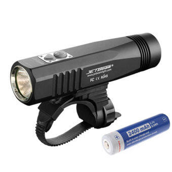 Harga JETBeam 960LM CREE XM-L2 T6 LED USB Rechargeable Bicycle Head Light Flashlight (Black)