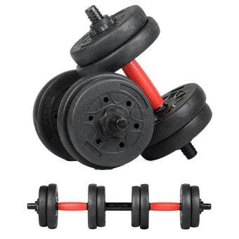 Harga FREE CONNECTOR High Quality Environmentally Friendly Rubber Dumbbell Fitness Dumbbells Gym Fitness Equipment (10KG)
